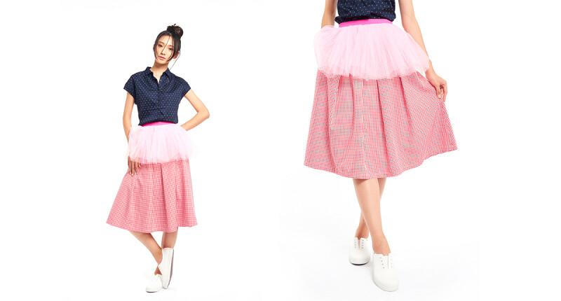 甜美粉紅澎裙 造型時尚百搭