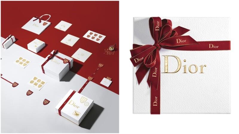 客製化緞帶、經典千鳥格紋、蝴蝶結...這些夢幻元素通通出現在今年Dior迪奧的聖誕包裝