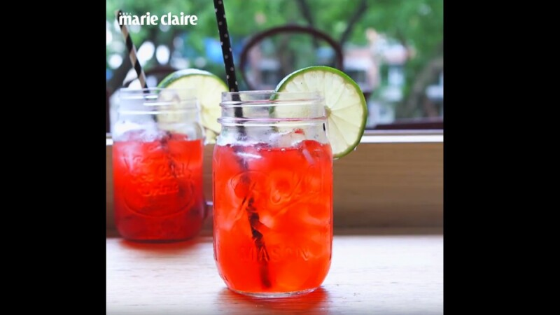 【姊弟煮廚週末上菜】洛神百香冰茶Hibiscus Passion Fruit Ice Tea