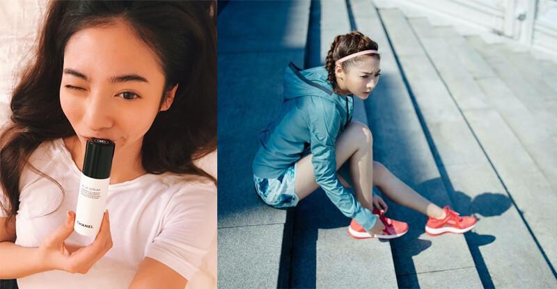 陽光美女謝沛恩:紓解壓力靠運動、還原肌膚青春就靠「藍色青春還原露」