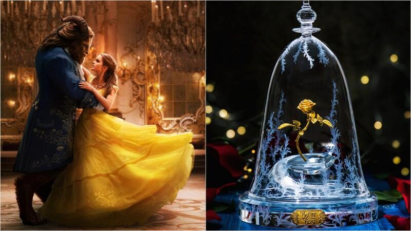 玻璃花罩內的黃金玫瑰花甦醒了!周大福將《美女與野獸》的封印解除