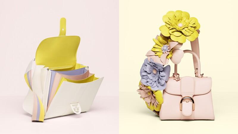 讓人想咬一口的冰淇淋色調!DELVAUX春夏推出彩虹夾層包、皮革花朵背帶