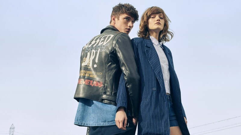 Pull & Bear春夏焦點色系單品!漂白牛仔外套、寬袖上衣的印花熱帶風