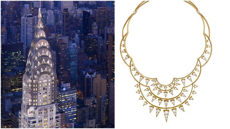 全世界最完美車工的鑽石,配上如紐約天際線的項鍊設計=Hearts on Fire的Triplicity系列!