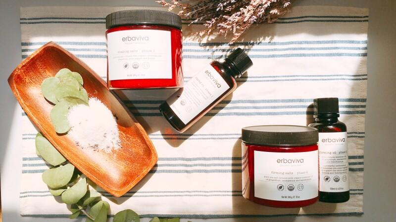 「原來要先排水→再緊實才有效」用加州有機保養erbaviva浴鹽+按摩油打造美體