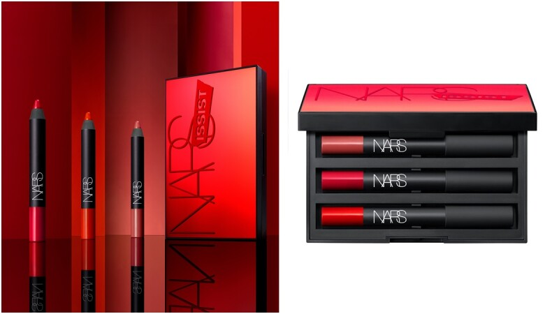 「一口氣擁有煙燻玫瑰紅、亮麗鮮紅色、鮮艷橙紅3款熱賣色」NARS全新推出自戀紅唇唇彩盤