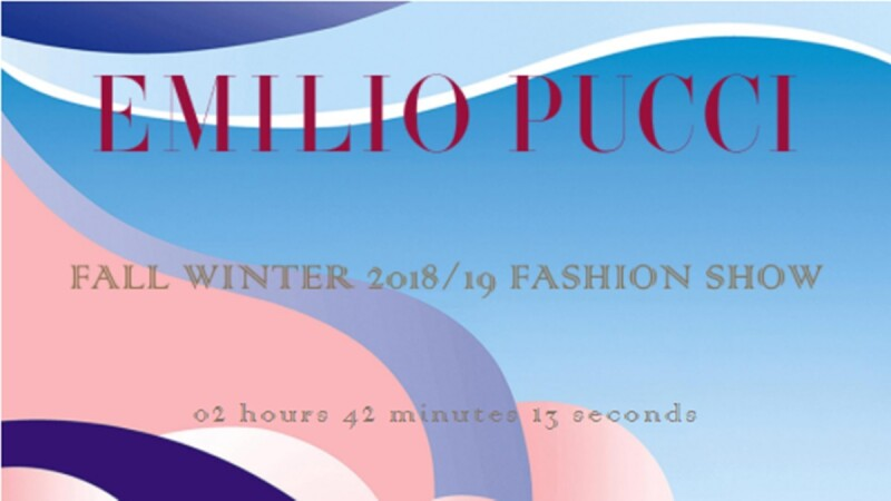 【Live】線上看!Emilio Pucci 2018秋冬大秀,將在2/22晚上10點登場