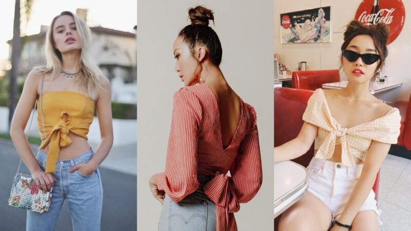 今夏用必備的時髦單品-綁帶衣,綁出你的夏日度假風情!