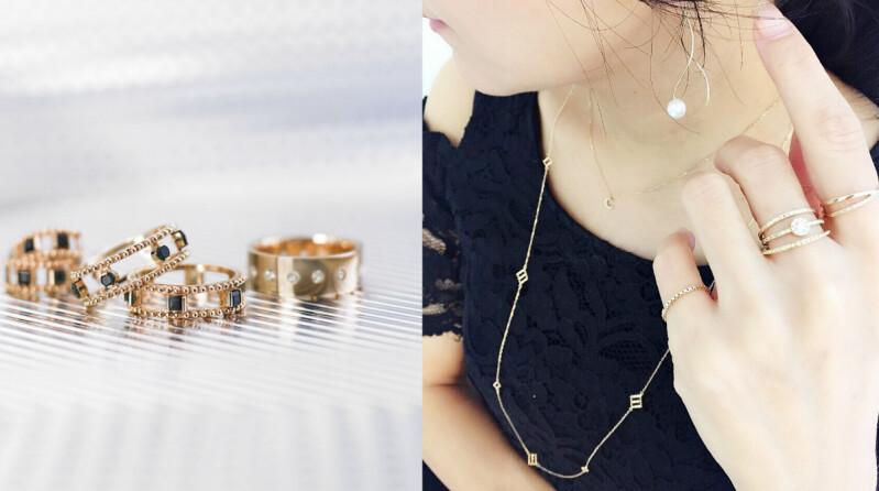 COCOSHNIK可以層疊組合配戴的輕奢珠寶,散發出纖細氣質的女神光芒,是時髦女子必需有的命定款!