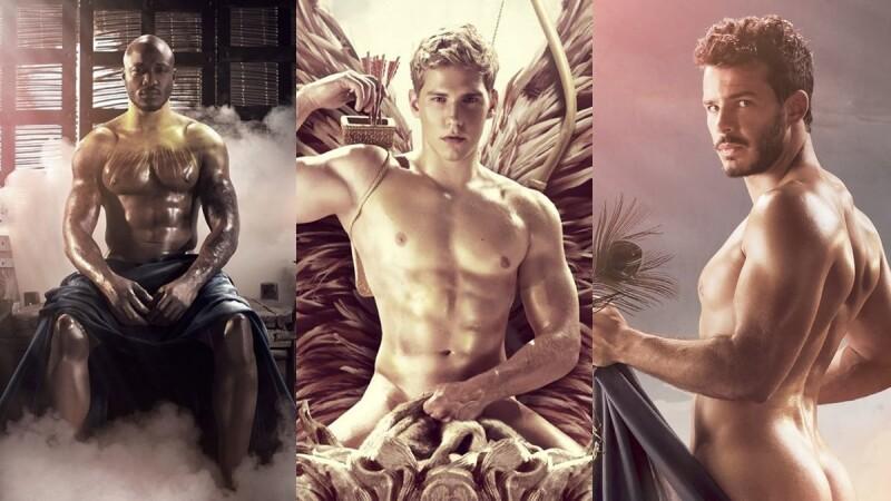 這個愛神我可以!法國鮮肉運動員化身希臘男神,2019《體育場之神》裸體月曆熱騰騰出爐