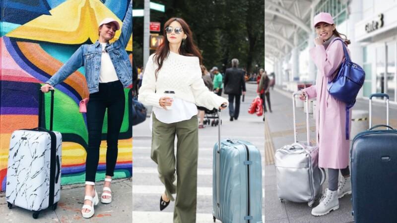 """大理石紋、太空銀、貝殼珠光...行李箱除了講求功能性,外觀的時髦度才是完整""""機場時尚""""不可或缺的關鍵!"""