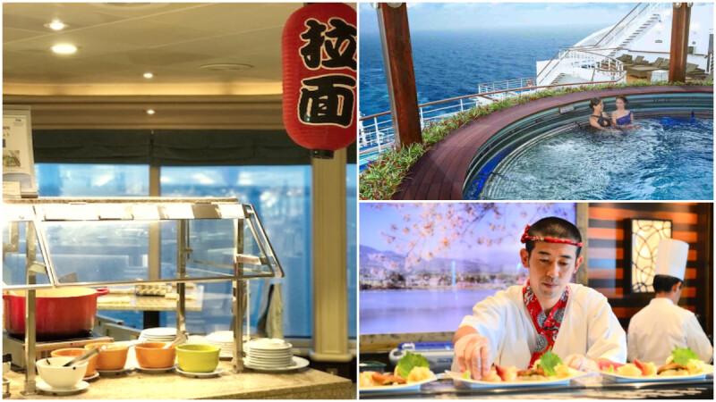 海上日式浴場、無限拉麵Bar、壽司屋、DIY海苔手卷壽司 早春和風訂製度假 鑽石公主號日系主題熱玩不斷電