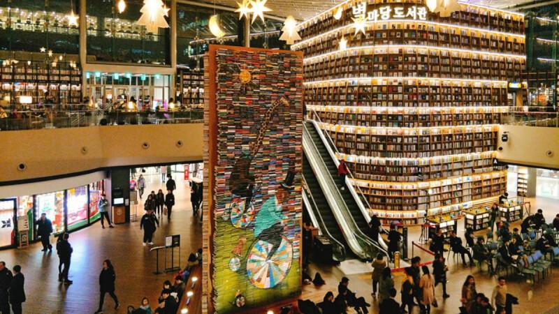 看不懂韓文書也沒關係!閨蜜們,聖誕節來韓國首爾一定要到「星光庭院圖書館」拍超水的網美照~