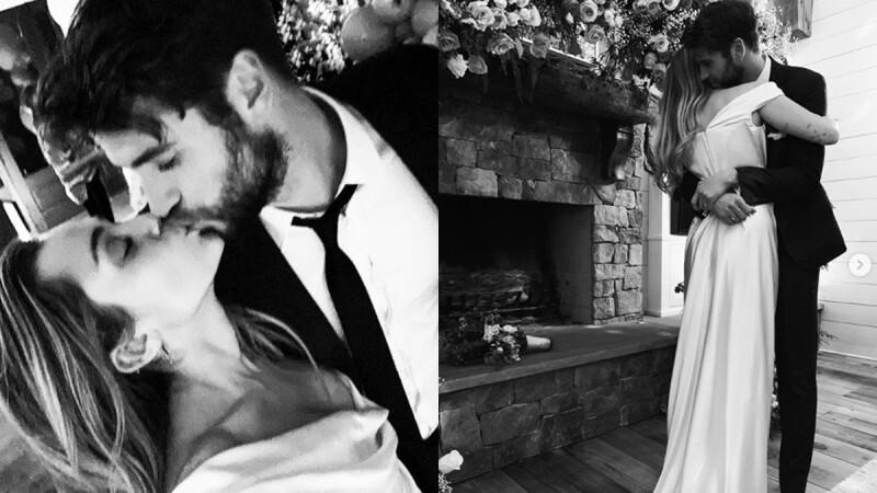 26歲麥莉真的結婚啦!交往9年、曾分手悔婚......低調嫁「雷神弟」甜蜜擁吻