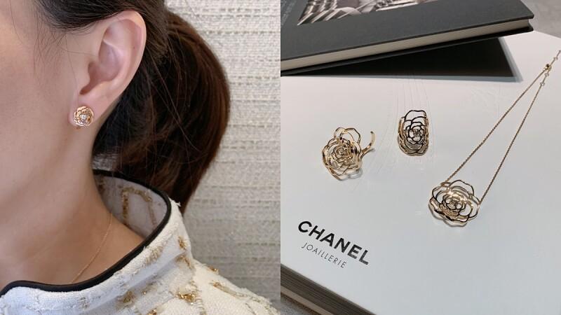 【試戴報告】Chanel《Bouton de Camélia》高級珠寶系列新款,指間戒、單邊耳夾、頸鍊…優雅時髦又好搭!(2019年新品)