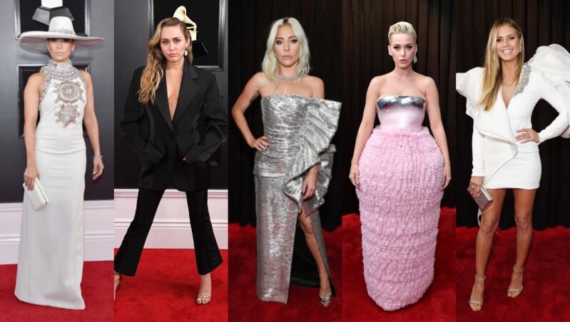 第61屆葛萊美音樂獎閃耀登場!Lady Gaga、Katy Perry…女星們的紅毯造型揭秘