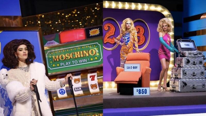 最浮誇的時尚拉霸機降臨秀場!MOSCHINO打造目眩神迷的百萬大富翁競賽大秀