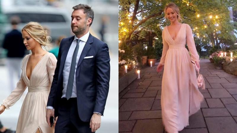 離婚禮不遠啦!珍妮佛勞倫斯紐約低調舉行訂婚派對,低胸洋裝絕美現身