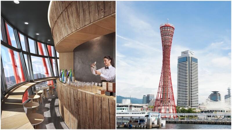 世界首間「旋轉清酒酒吧」開幕!座落神戶港燈塔展望台,20分鐘轉一圈,360度夜景盡收眼底