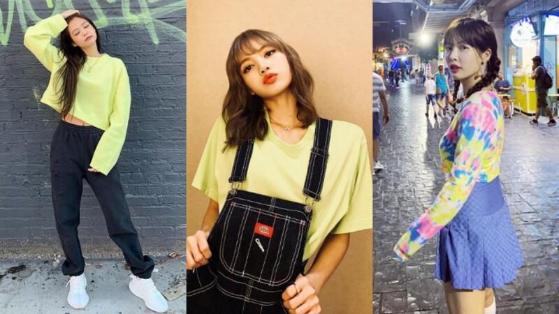 駕馭螢光色沒這麼難!Lisa、泫雅、Jennie...跟上潮流韓星的穿搭提案,輕鬆征服亞洲女孩畏懼的螢光服飾!