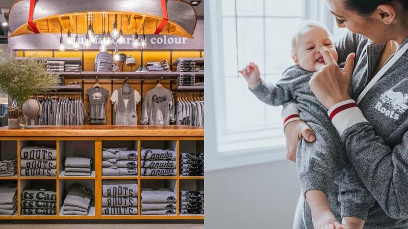 經典椒鹽灰也有童裝系列!Roots完美複製經典S&P概念店,還可以自己布貼專屬服飾
