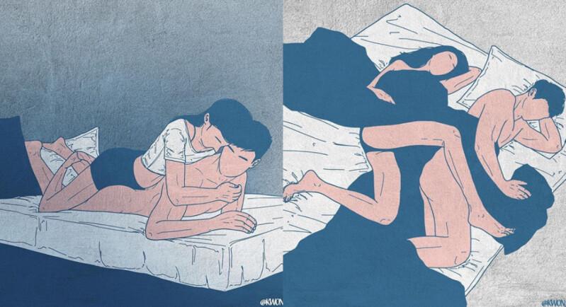 描繪你我的愛情故事!韓國IG情慾插畫家,Singiru:「比起性這件事情,更想強調的是人與人之間的愛情。」