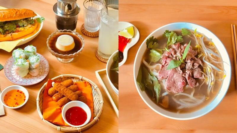 【台中美食】《moi越式餐酒館》巷弄間美味的越式料理,必吃限量生牛肉河粉、鮮蝦生春捲
