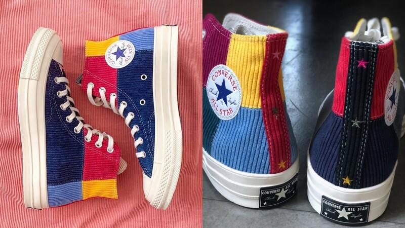 連鞋底都是6色彩虹!Converse聯手英國潮鞋店Offspring推出燈芯絨色塊拼接Chuck 70s