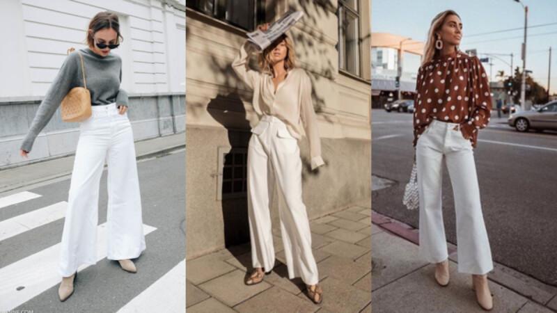 人人懼怕的「白色寬褲」原來這麼百搭!這 4 個超實用搭配法讓你明白它的好!