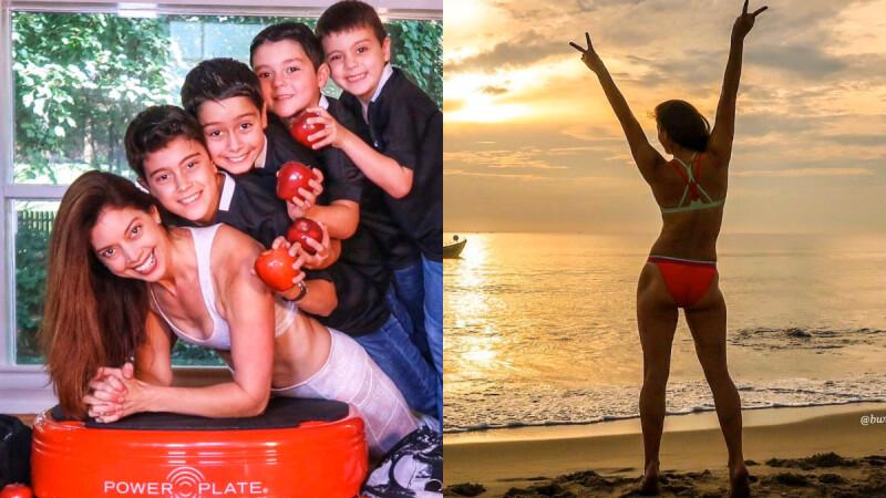 太狂太勵志!擁有4寶的43歲辣媽邊做家事邊健身,練出逆天好身材!