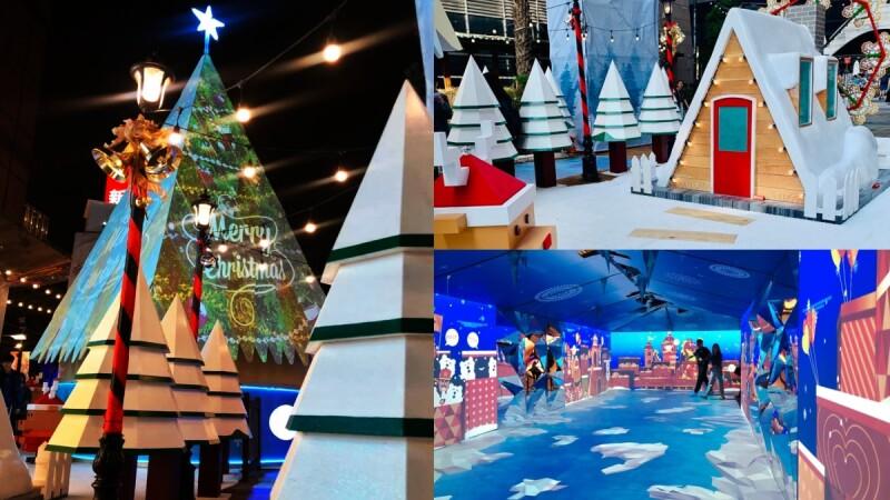 11米高光雕耶誕樹太夢幻!台南「光影耶誕冬遊西門」打造星河冰川走廊、白雪小木屋,彷彿置身北歐