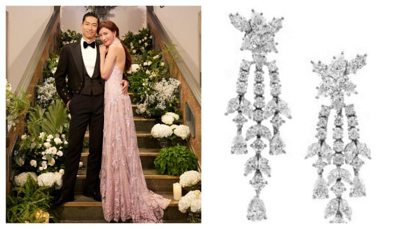 原來志玲姐姐也愛 Harry Winston,台南喜宴送客與 After Party 戴的鑽石耳環真是美翻了!