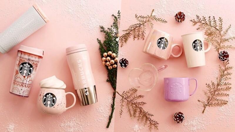 少女心爆炸!日本星巴克推「粉紅聖誕系列」限定隨行杯,還有聖誕新口味登場