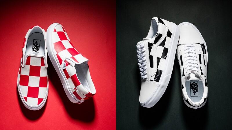 經典棋盤格搭上皮革材質!Vans全新Leather Check Pack鞋款誕生