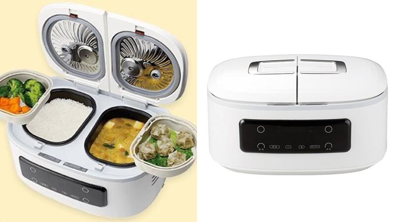 懶人煮飯神器!日本推「自動調理鍋」一次煮白飯、菜色共4道料理的智能飯鍋