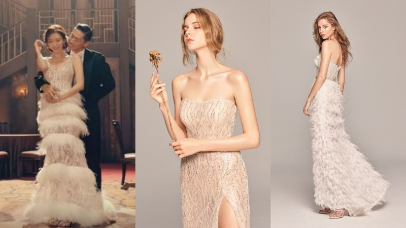想和志玲姊姊身著相似款的仙氣羽毛婚紗嗎?林莉婚紗LinLi Boutique最新春夏系列絕對讓妳也跟著美一波!