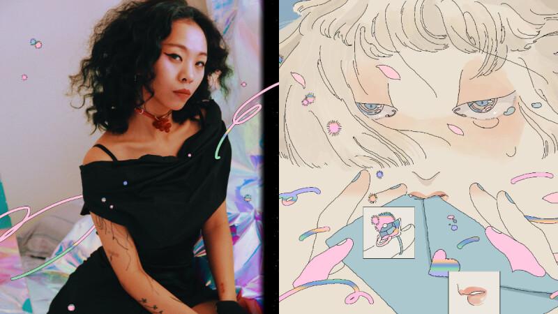 【台北女孩】「低級失誤」插畫家鍾逸婷,純情日系漫畫幻夢的掌舵者