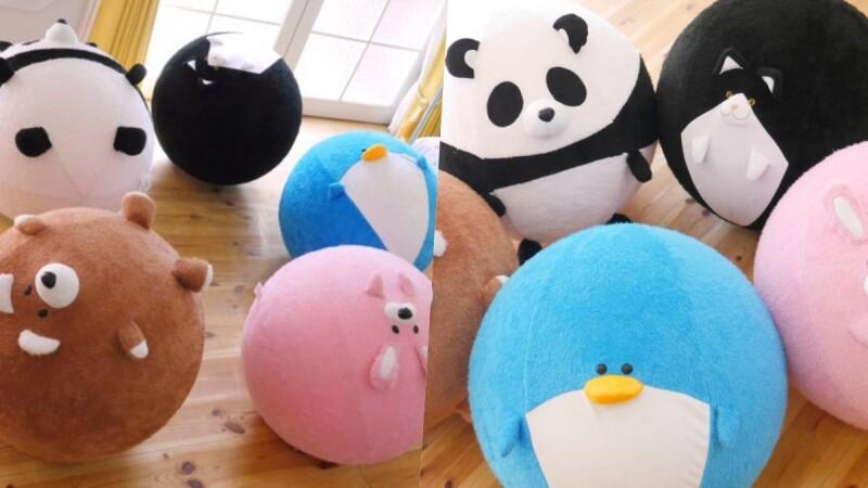 圓滾滾超萌!日本推「動物瑜伽球套」超萌造型讓運動也可以很療癒