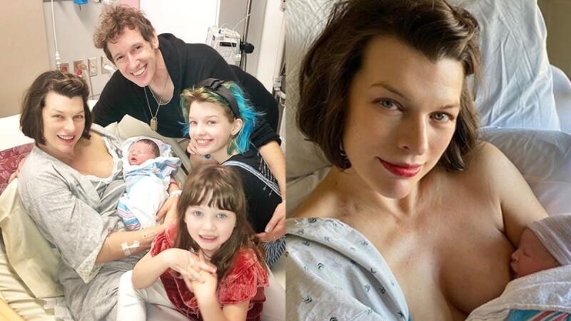 44歲蜜拉喬娃維琪生了!一家五口幸福合照曝光,曬哺乳照母愛爆發