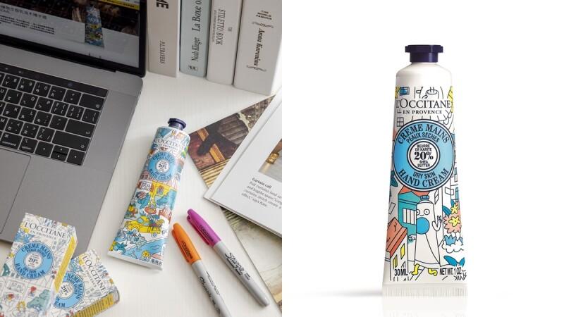 史上最可愛L'OCCITANE歐舒丹 x OMY乳油木彩繪限定系列,是可以自己著色插畫包裝