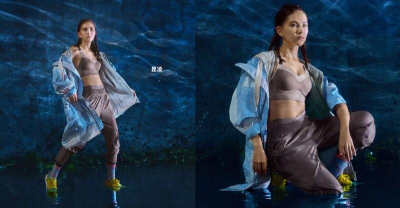 昆凌濕身解放腹肌拍adidas by Stella McCartney形象片!網友認證「不科學身材」:看不出生兩胎