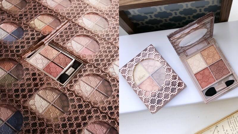 Visee最經典的晶緞光漾眼影盒全新升級「晶緞璃花眼影盒」,#RD6乾燥玫瑰x夕陽橘配色簡直美炸
