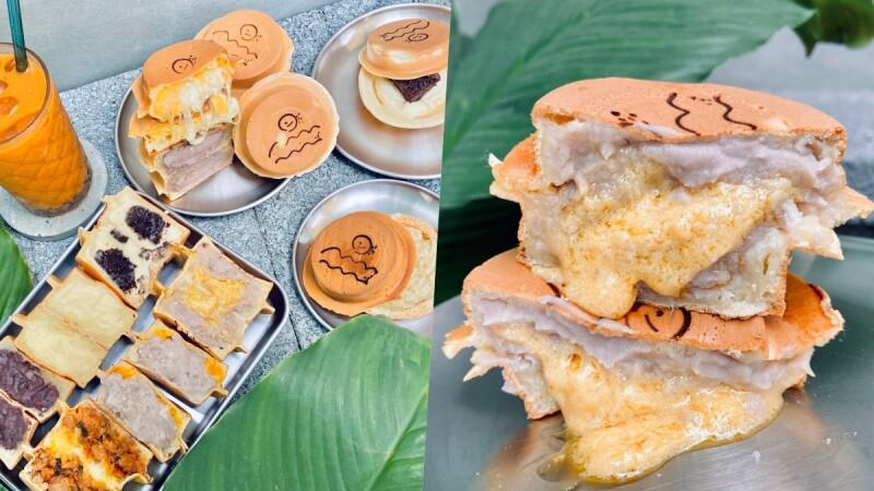 【羅東美食】野小孩車輪餅必吃榴槤起司、芋頭流沙,還把宜蘭蔥、花生捲冰淇淋包進車輪餅裡
