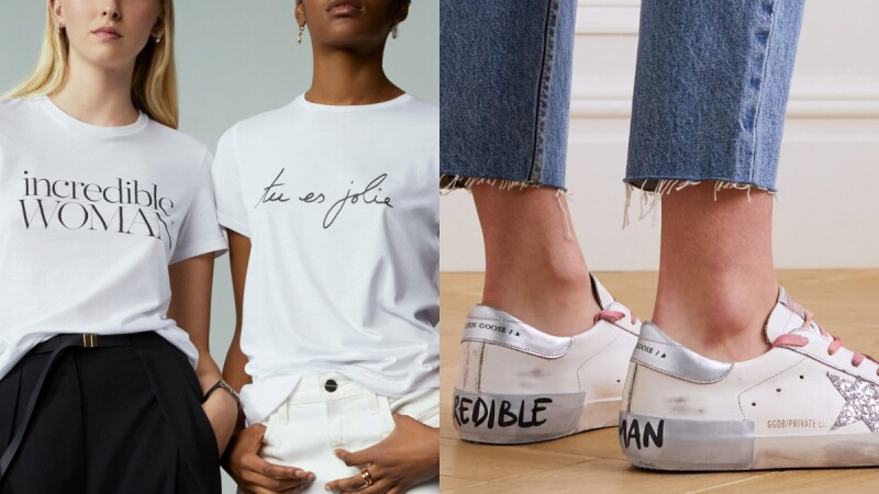 Net-A-Porter推出20款獨家限量T-Shirt+兩樣配件,以標語為國際女性發聲!