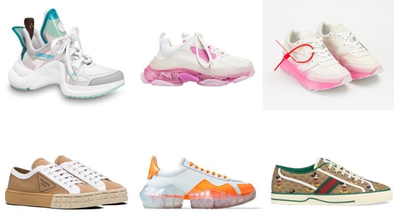 2020春夏精品運動鞋盤點,顏值超高「狠腳色」!PRADA餅乾鞋、LV薄荷綠老爹雨鞋、GUCCI米奇帆布鞋...全都想要