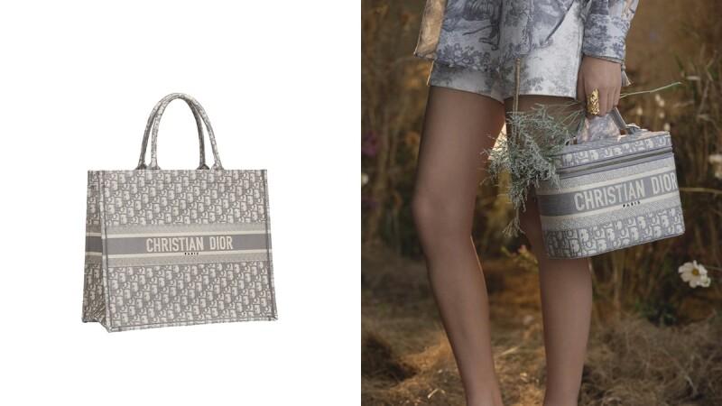 Oblique老花圖騰再推新手袋!DIOR霧灰色化妝箱包、帆布托特袋終於抵台開賣
