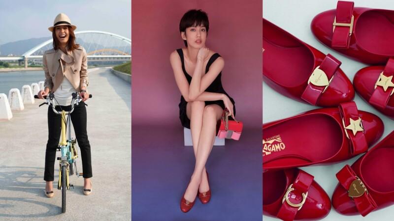Ferragamo Vara蝴蝶鞋娃娃鞋,見證陳庭妮成長史!23青春洋溢→30帥氣又性感
