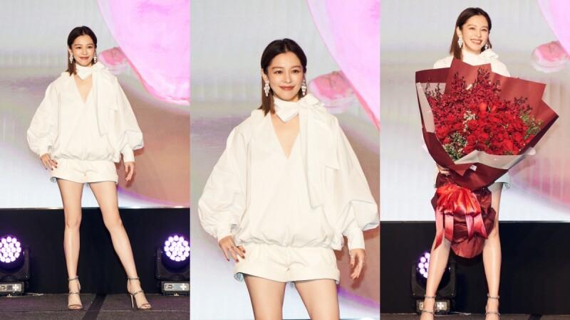 徐若瑄穿白色泡泡袖&泡泡褲變可愛女人,清新氣質完全看不出剛過45歲生日!