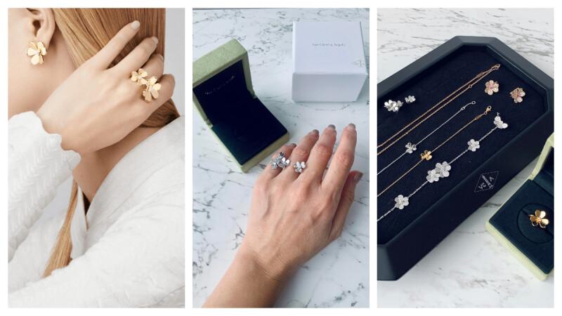 【試戴報告】K金鑽石指尖戒、小巧耳環,立體花朵造型實在太可愛,我的第一件 Van Cleef & Arpels 就是她! (內附開箱影片)