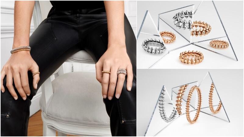 最酷的輕珠寶,Cartier 卡地亞熱賣系列 CLASH DE CARTIER 推出白金款,銳利尖錐細節打造超獨特珠寶個性。
